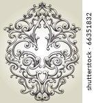 fleur de lis frame | Shutterstock .eps vector #66351832