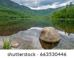 landscape of lake with... | Shutterstock . vector #663530446