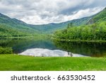 landscape of lake with... | Shutterstock . vector #663530452