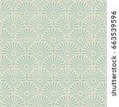 seamless japanese vintage... | Shutterstock .eps vector #663539596