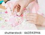 homemade attributes of... | Shutterstock . vector #663543946