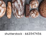 delicious freshly baked brown... | Shutterstock . vector #663547456