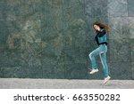 beautiful teens talk to... | Shutterstock . vector #663550282