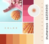 creative colorful summer theme... | Shutterstock . vector #663554545