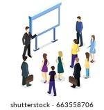 isometric flat 3d concept... | Shutterstock . vector #663558706