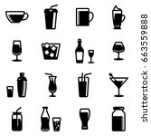 set of simple icons on a theme... | Shutterstock .eps vector #663559888