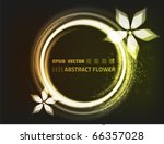 abstract vector flower design ...