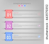 infographic template three...   Shutterstock .eps vector #663570352