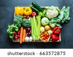 fresh colorful spring organic...   Shutterstock . vector #663572875