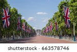 a view looking down the mall... | Shutterstock . vector #663578746