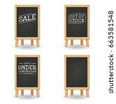 menu black chalkboard isolated... | Shutterstock .eps vector #663581548