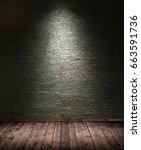 interior room with spotlight    ... | Shutterstock . vector #663591736