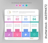 infographic template of four... | Shutterstock .eps vector #663594472