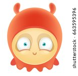 cartoon cute monster | Shutterstock .eps vector #663595396