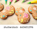 making holiday's decorated... | Shutterstock . vector #663601396