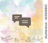 web icon. dialog. vector...
