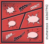 comic book. vector template   Shutterstock .eps vector #663607942