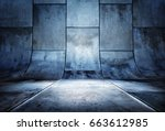 3d rendering of a presentation... | Shutterstock . vector #663612985