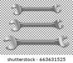 wrench  wthout a backdrop.... | Shutterstock .eps vector #663631525
