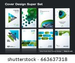 set of abstract business design ... | Shutterstock .eps vector #663637318