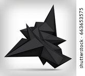 volume geometric shape  3d... | Shutterstock .eps vector #663653575