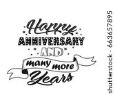 happy anniversary and many more ... | Shutterstock .eps vector #663657895