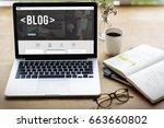 blog website article lifestyle... | Shutterstock . vector #663660802