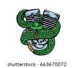 vintage tattoo art illustration ... | Shutterstock .eps vector #663670072