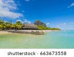 le morne brabant   mauritius... | Shutterstock . vector #663673558