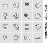 vector illustration of 16 sport ... | Shutterstock .eps vector #663676936