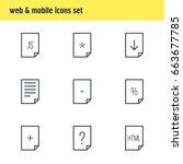 vector illustration of 9 paper...