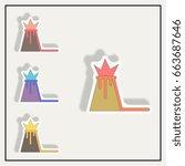 vector illustration in sticker... | Shutterstock .eps vector #663687646