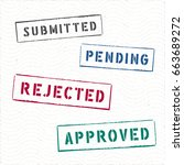 document rectangle stamps... | Shutterstock .eps vector #663689272