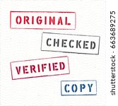 document rectangle stamps... | Shutterstock .eps vector #663689275