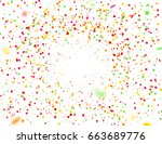 colorful confetti falling... | Shutterstock .eps vector #663689776