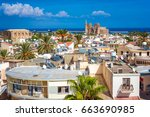 a view of famagusta town... | Shutterstock . vector #663690985