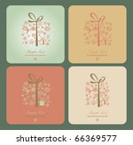 four greeting cards | Shutterstock .eps vector #66369577