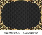 black textured background with... | Shutterstock .eps vector #663700192
