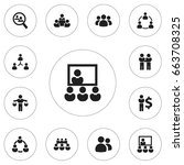 set of 12 editable team icons....