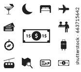 set of 12 editable travel icons....