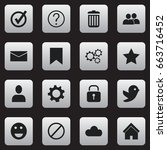 set of 16 editable web icons....