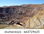 old copper mine  copper mine in ... | Shutterstock . vector #663729625