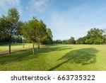 beautiful green golf  and... | Shutterstock . vector #663735322