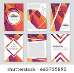 abstract vector layout... | Shutterstock .eps vector #663735892