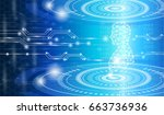 abstract background technology... | Shutterstock .eps vector #663736936
