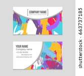 abstract vector layout... | Shutterstock .eps vector #663737185