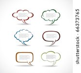 speech bubbles vector | Shutterstock .eps vector #66373765