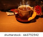 a good cup of coffee before... | Shutterstock . vector #663752542