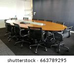 private meeting room in a... | Shutterstock . vector #663789295