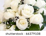 Stock photo white roses elegant bouquet tied 66379108